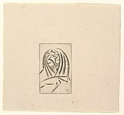 Female Head, Draped (Draped Woman's Head)