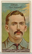 Fred Dunlap, Captain, Pittsburgh, from the Goodwin Champion series for Old Judge and Gypsy Queen Cigarettes
