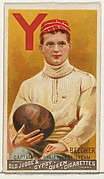 Edwin Beecher, Captain, Yale University Football Team, from the Goodwin Champion series for Old Judge and Gypsy Queen Cigarettes