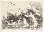 Bathers in the Shade of Wooded Banks (Baigneuses à L'Ombre des Berges Boisées)