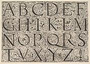 Roman Majuscule Alphabet