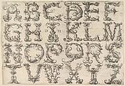 Ornamented Roman Majuscule Alphabet
