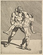 Wrestlers, from Wrestlers, plate 3