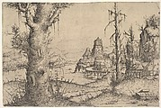 Landscape with a Large Tree at Left