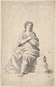 Seated Woman, Arms Crossed in Prayer