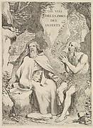 Title page: Arnaud d'Andilly, Les Vies des saints pères des déserts