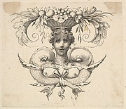 Tail-piece: Woman's Head (Cul-de-lampe: Buste de femme)