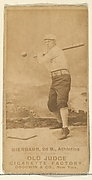 Bierbauer, 2nd Base, Philadelphia Athletics, from the Old Judge series (N172) for Old Judge Cigarettes