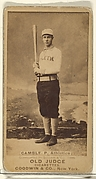 Gamble, Pitcher, Philadelphia Athletics, from the Old Judge series (N172) for Old Judge Cigarettes
