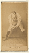 Gunning, Catcher, Philadelphia Athletics, from the Old Judge series (N172) for Old Judge Cigarettes