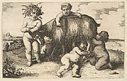 Four boys, a young satyr, and a goat (copy in reverse)