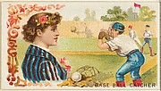 Baseball Catcher, from the Games and Sports series (N165) for Old Judge Cigarettes