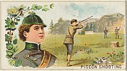 Pigeon Shooting, from the Games and Sports series (N165) for Old Judge Cigarettes