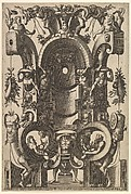 Niche in the Form of a Cartouche from Veelderleij Veranderinghe van grotissen ende Compertimenten...Libro Primo