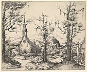 Landscape with Small Church and Arch over Stream (counterproof)