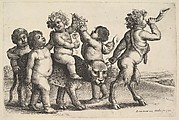 Four Boys, a Young Satyr, and a Leopard