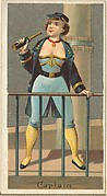 Captain, from the Occupations for Women series (N166) for Old Judge and Dogs Head Cigarettes