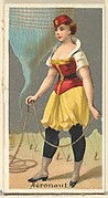 Aeronaut, from the Occupations for Women series (N166) for Old Judge and Dogs Head Cigarettes