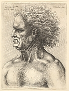 Bust of Naked Man with Grim Expression