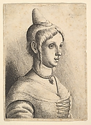 Young Woman with Conical Hat