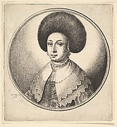Woman's Head with Fur Hat, looking right