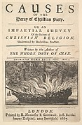 Title page: Causes of the Decay of Christian Piety