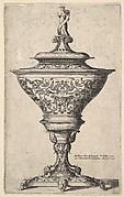 Ornate Goblet on Feet of Masks