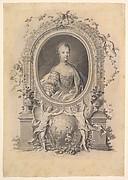 Portrait of Queen Marie-Antoinette in an ornamental frame