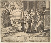 Psyche Telling Her Misfortune to Her Sisters, from The Fable of Psyche