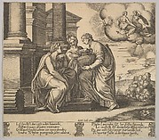 Plate 11: Psyche gives presents to her sisters, from 'The Fable of Psyche'