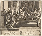 Plate 3: Psyche's two sisters are married to kings, from 'The Fable of Psyche'