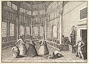 The Inside of a Mosque, the Dervishes Dancing  (Aubry de La Mottraye's