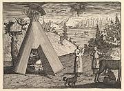 A Lapland Hut (Aubry de La Mottraye's