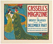 CASSALL'S / MAGAZINE / IS / GREATLY ENLARGED / WITH THE / DECEMBER PART / PRICE 6D. WHICH INCLUDES AN ALBUM / OF FREDERICK BARNARD'S SKETCHES