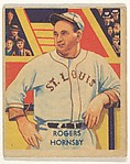 Rogers Hornsby, from the Diamond Stars series (R327) for the National Chicle Gum Company