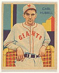 Carl Hubbell, from the Diamond Stars series (R327) for the National Chicle Gum Company