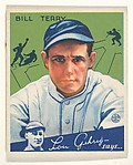 Bill Terry, Manager, New York Giants, from the Big League Chewing Gum series (R320) for the Goudey Gum Company