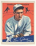 Charley Gehringer, Detroit Tigers, from the Big League Chewing Gum series (R320) for the Goudey Gum Company