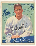 Henry Greenberg, Detroit Tigers, from the Big League Chewing Gum series (R320) for the Goudey Gum Company