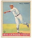 Bill Terry, New York Giants, from the Big League Chewing Gum series (R319) for the Goudey Gum Company