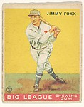 Jimmy Foxx, Philadelphia Athletics, from the Big League Chewing Gum series (R319) for the Goudey Gum Company