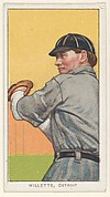 Willett, Detroit, American League, from the White Border series (T206) for the American Tobacco Company