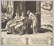 Psyche's Sisters Persuade Her a Serpent is Sleeping with Her, from The Fable of Psyche
