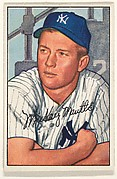 Mickey Mantle, Center Fielder, New York Yankees, from Picture Cards, series 6 (R406-6) issued by Bowman Gum