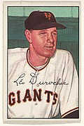 Leo Durocher, Manager, New York Giants, from Picture Cards, series 6 (R406-6) issued by Bowman Gum