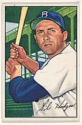 Gil Hodges, 1st Baseman, Brooklyn Dodgers, from Picture Cards, series 6 (R406-6) issued by Bowman Gum