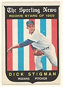 Dick Stigman, Pitcher, Cleveland Indians, from the