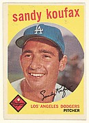 Sandy Koufax, Pitcher, Los Angeles Dodgers, from the