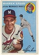 Card Number 20, Warren Spahn, Pitcher, Milwaukee Braves, from