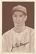 Joe DiMaggio, from the Goudey Premiums series (R303-A) issued by the Goudey Gum Company